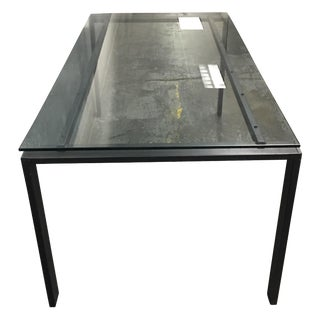 Room & Board Rand Glass & Metal Dining Table
