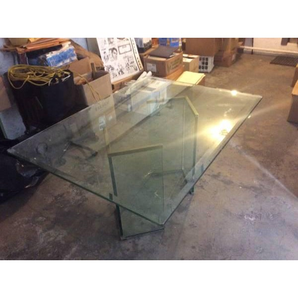 Leon Rosen Sculptural Glass Dining Table - Image 2 of 4