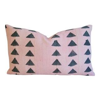 Pink & Charcoal Mali Mud Cloth Lumbar Pillow