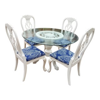 Lovely Chalk Painted Table & Chairs- 5 Pieces