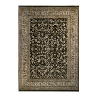 Tabriz Pak-Persian Jewel Charcoal & Gray Wool Rug - 10'0 X 14'3