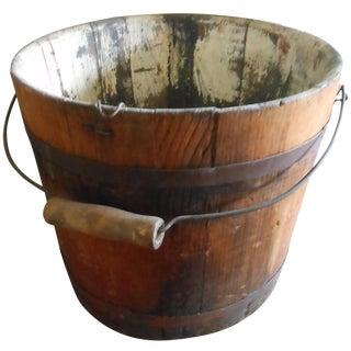 Antique Maple Bucket
