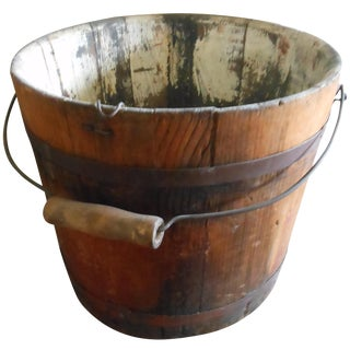 Antique Maple Bucket