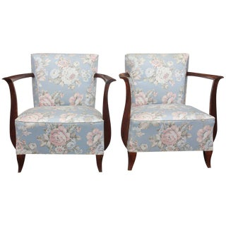Circa 1940s French Art Deco Armchairs - A Pair