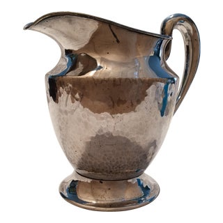 Vintage Silver Plate Hammered Pitcher by Bernard Rices Sons Inc.