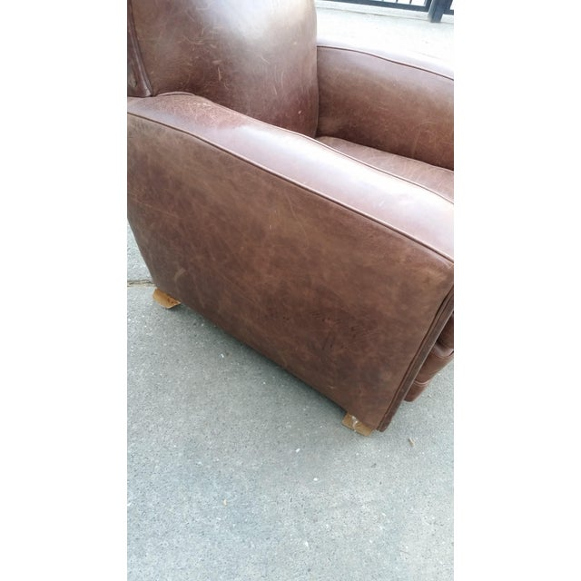 Art Deco Style Leather Club Chair - Image 3 of 7