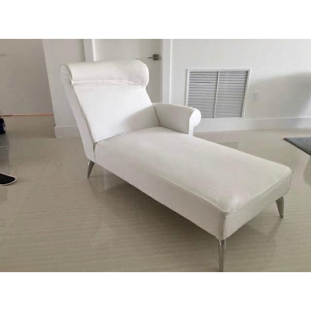 driade royalton white chaise longue by philippe starck 1988 | chairish - Chaise Longue Philippe Starck