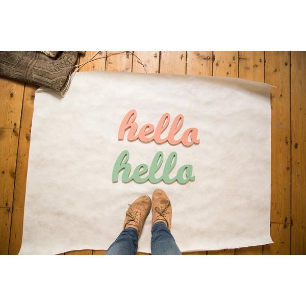 Image of Contemporary Coral Hello Sign