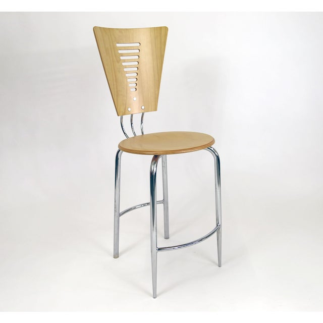 Vintage Post Modern Memphis Era Barstools - A Pair - Image 6 of 10