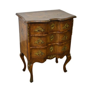 Antique 19th C. French Louis XV Burl Walnut Commode