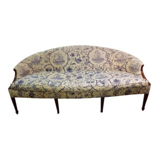 Vintage Blue and White Chinoiserie Sofa