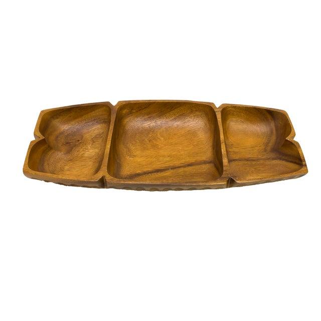 Vintage Monkey-Pod Wood Tray - Image 1 of 4