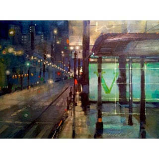Jade Bus Stop Watercolor