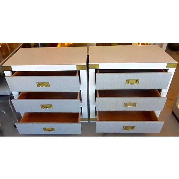 Gray & White Nightstand Chests - A Pair - Image 4 of 8