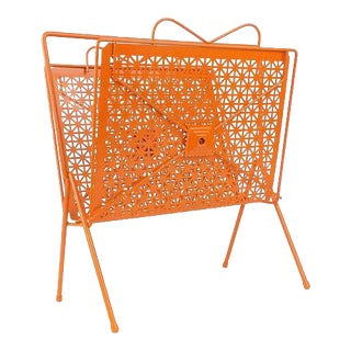 Orange Vinyl Record Rack