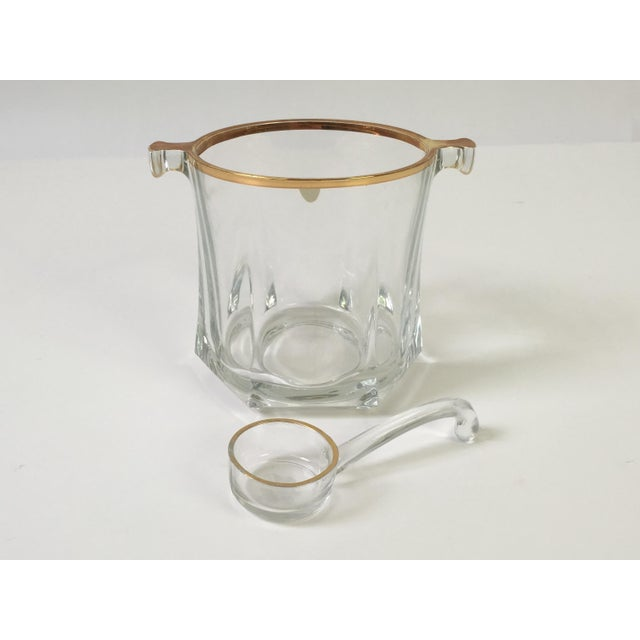 Image of Vintage Mano Crystal Ice Bucket With Ice Scoop