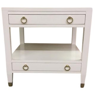 Malibu Loft White End Table