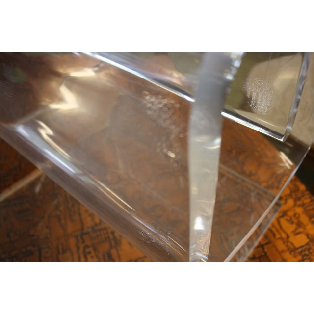 Lucite Spiral Side Table - Image 9 of 10