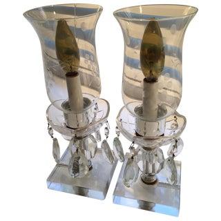Crystal Boudoir Lamps - A Pair