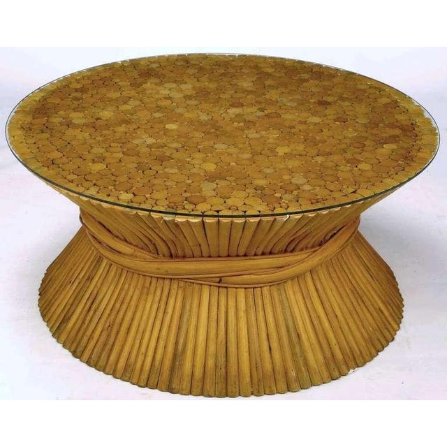 Sheaf Of Bamboo Coffee Table Attr McGuire - Image 2 of 7
