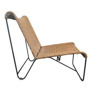 Handcrafted Rope and Iron Framed Chair