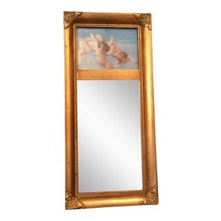 Robert Grace Cherub Trumeau Mirror