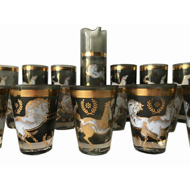 Mid-Centry Modern Bar Glasses & Pitcher - Image 3 of 7