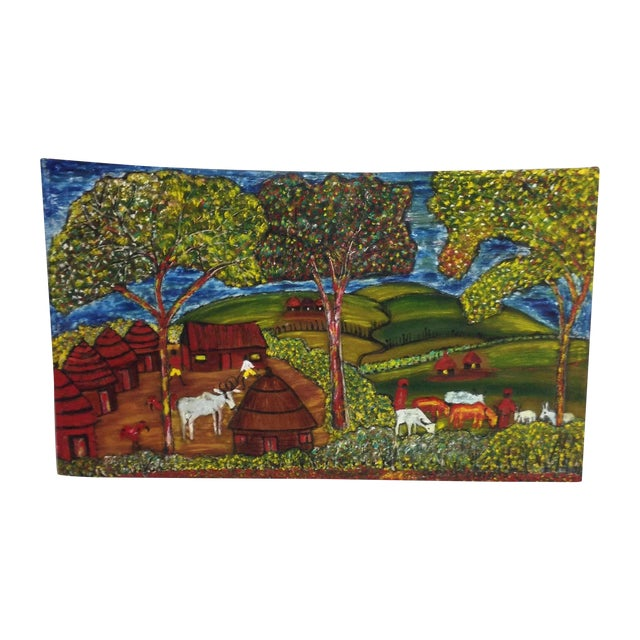 Original African Painting - Image 1 of 8