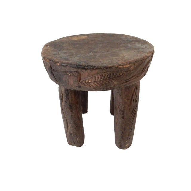 African Carved Milk Stool - Image 2 of 7