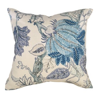 "Cowtan & Tout Bagatelle Bleu de Chine Embroidered Pillow Cover - 20"" X 20"""