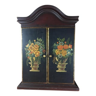 Tole Painted Hanging Cabinet