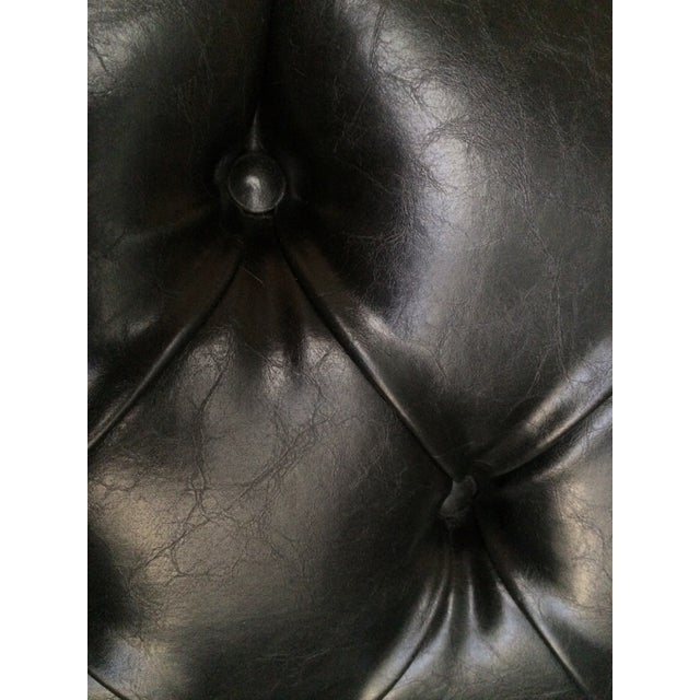 Serena & Lily Black Leather Bruno Chair - Image 6 of 8