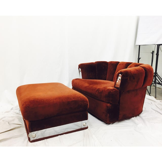 Vintage Mid-Century Modern Chair & Ottoman - A Pair - Image 3 of 11