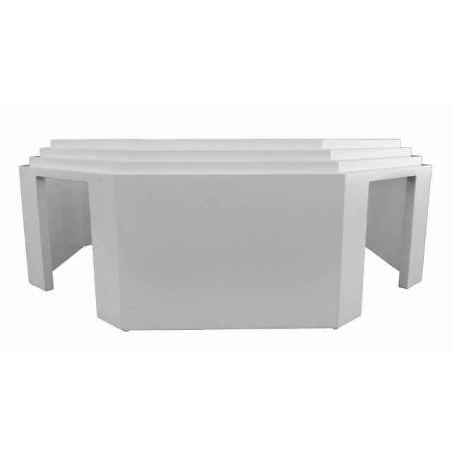 White Lacquered Octagonal Coffee Table Chairish