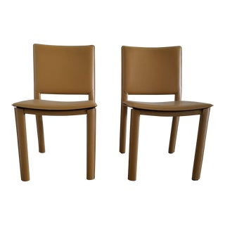 Room & Board Leather Dining Chairs - A Pair