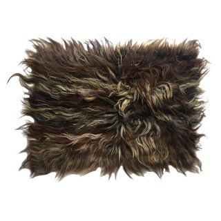 """Handmade Natural Wool Shaggy Tulu Rug - 3'5"""" X 2'7"""""""