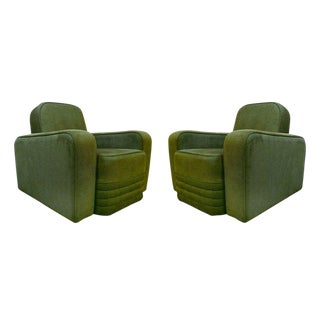 Airborne French Mid-Century Club Chairs - A Pair