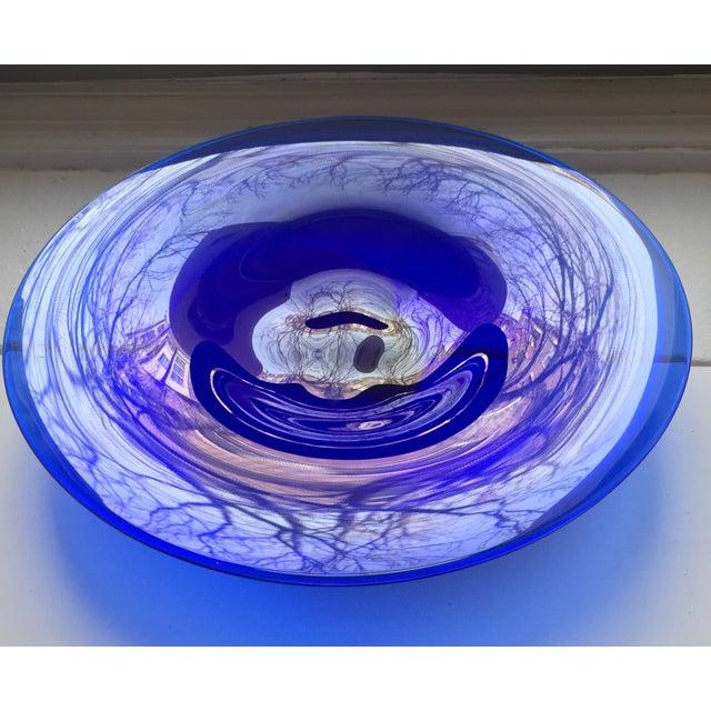 Scandinavian Art Glass Signed Bowl - Image 2 of 8