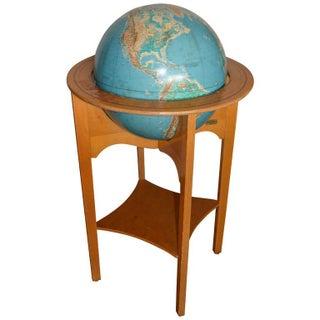 Mid-Century Globe on Wooden Stand