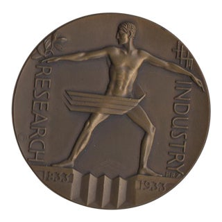 1933 Art Deco Chicago Expo Bronze Sculpture Medallion