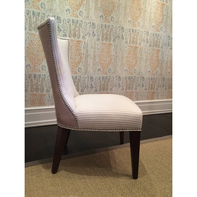 Lee Industries Cream Dining Chairs - Set of 8 - Image 5 of 6