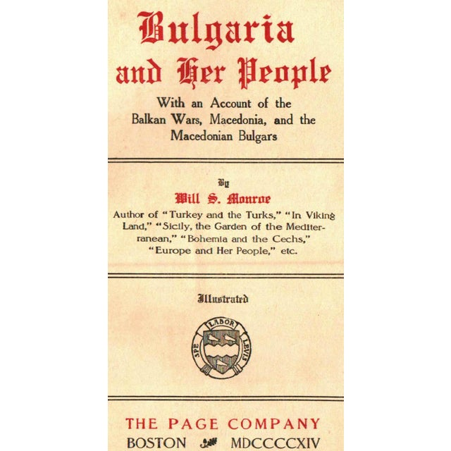 """Bulgaria and Her People"" Hardcover Book by Will S. Monroe - Image 2 of 5"