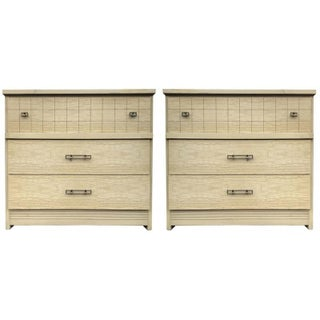 Three Drawer Bachelor's Chests - A Pair