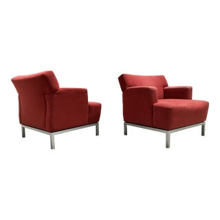 Krug Modern Lounge Chairs - A Pair