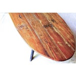Image of Mid-Century Reclaimed Wood Surfboard Coffee Table