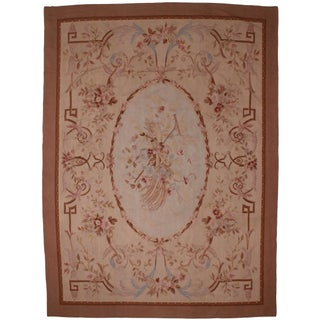 Vintage French Aubusson Rug - 9' X 12'