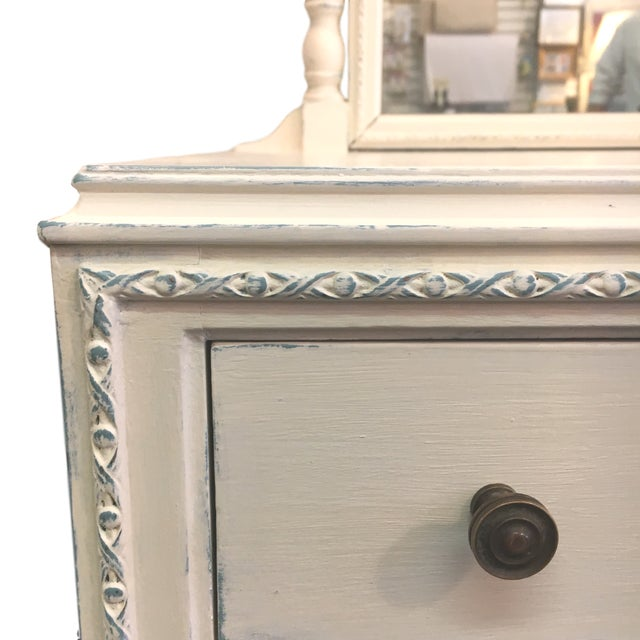 Vintage Hand Painted Dresser & Mirror - Image 3 of 9