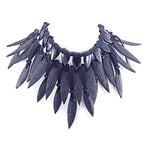 Image of Giorgio Armani Runway Crystal & Shagreen Collar