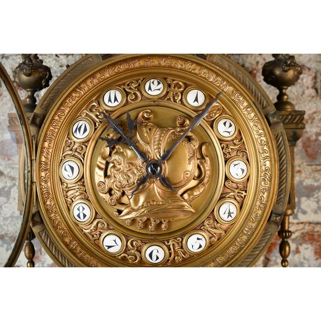 19th Century Creusy Paris Bronze French Clock - Image 4 of 10