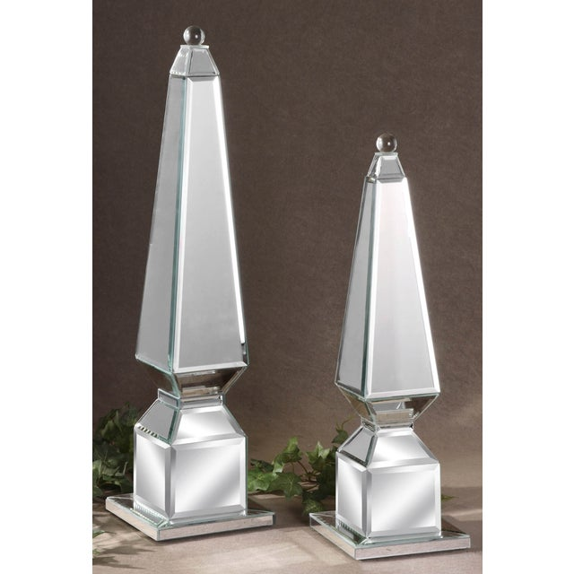 Image of Mirrored Finials - A Pair